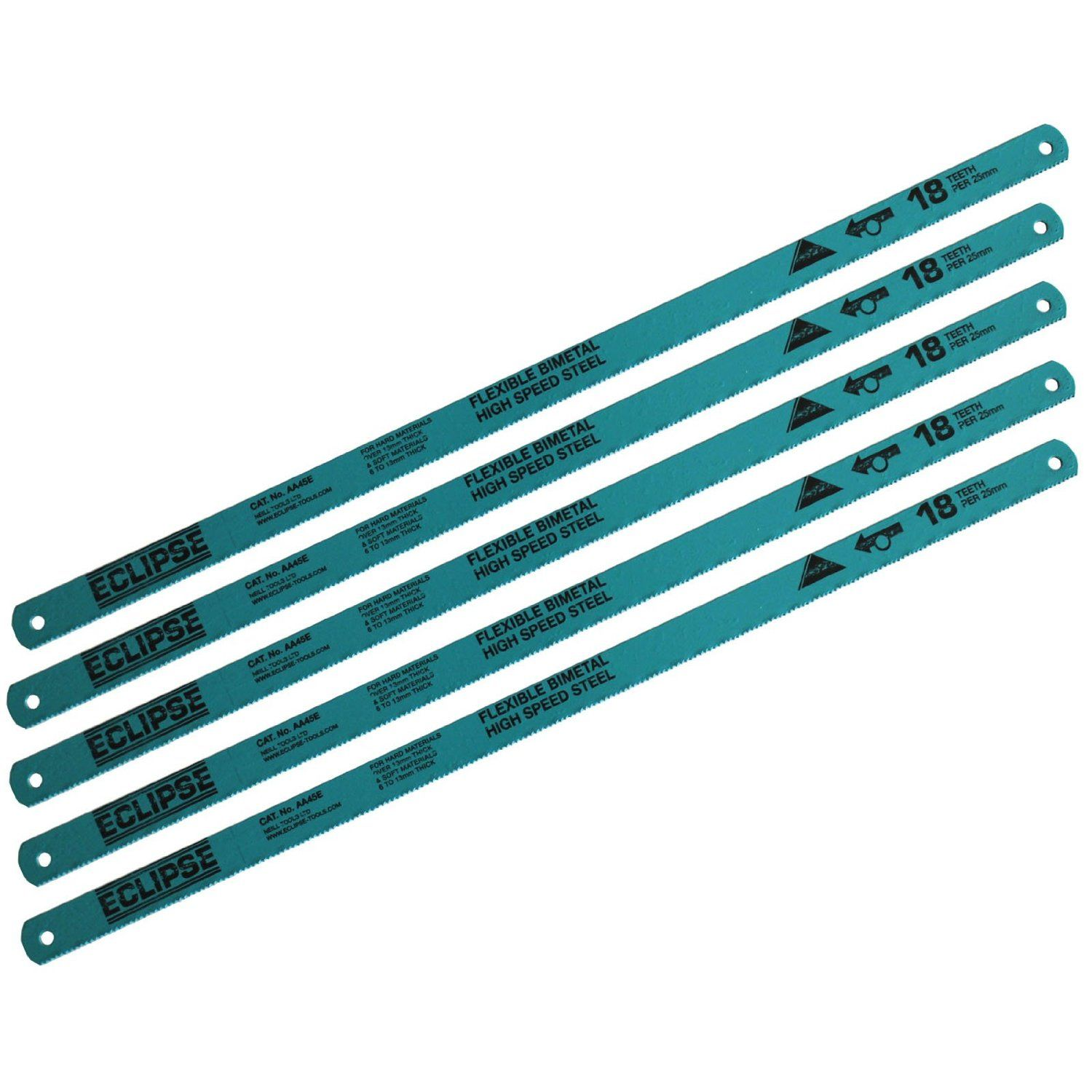 Eclipse Bi-Metal Flexible High Speed Steel Hacksaw Blades ...