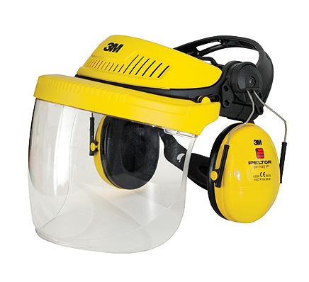3M G500 Peltor Headgear Protection Combination  incl. Face Shield and Ear Muffs