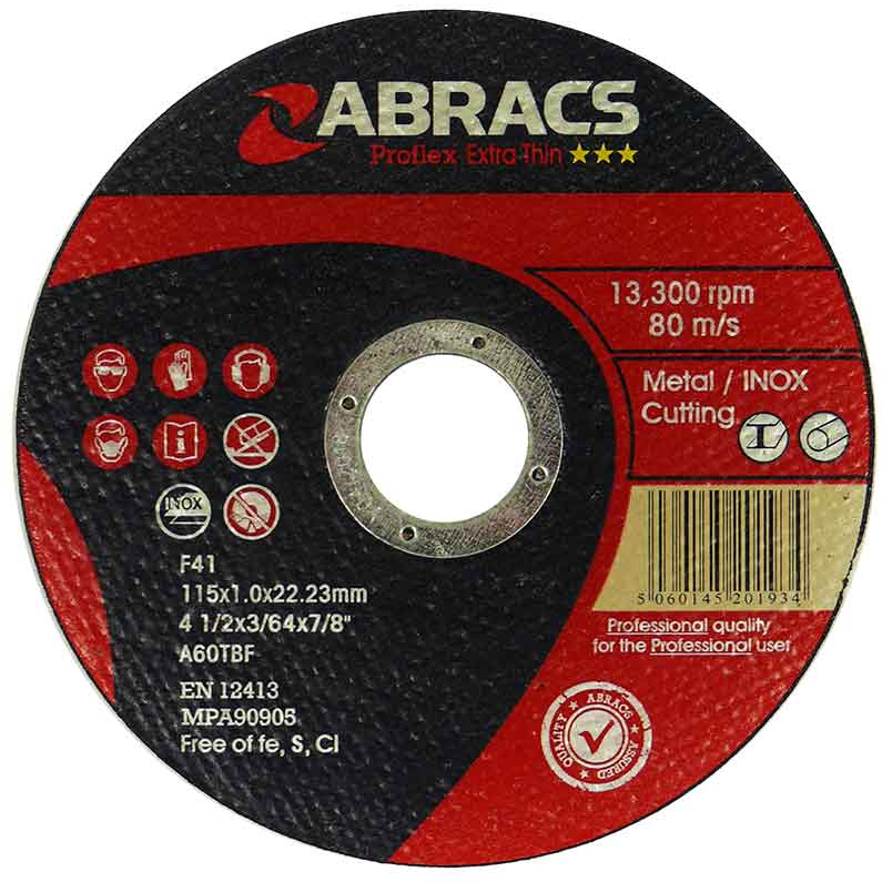 Abracs Proflex Cutting Disc 115mm  x 1mm x 22mm