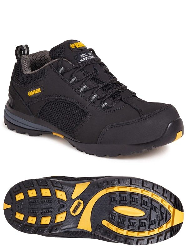 Apache  AP318SM Low Profile Safety Trainers Black