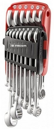 Facom 440.JP14 Metric Offset Combination Wrench Sets in Portable Case