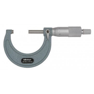 Mitutoyo 103-138H 25-50mm Ext. Micrometer .01mm Std. Ratchet