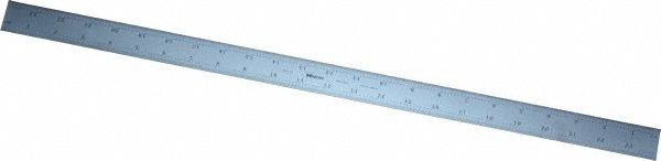 "Mitutoyo 182-165 600mm/24"" Steel Rule Rig 1/32"" 1/64"" 1mm 0.5mm"