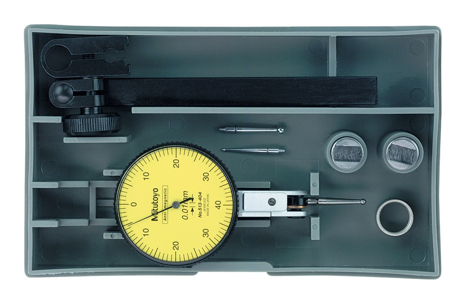 Mitutoyo 513-404T Dial Test Indicator Set 0-40-0 .8/.01mm