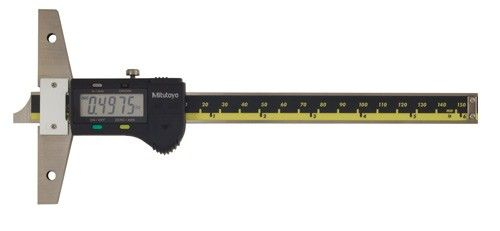 "Mitutoyo 571-211-20 Digimatic Depth Gauge 0-6""/150mm .01mm/.0005"